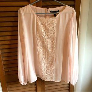 WHBM: Pink Stella Lace Blouse